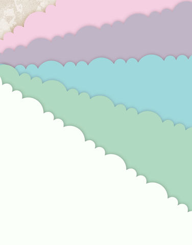 Pastels Scalloped Tissue Paper