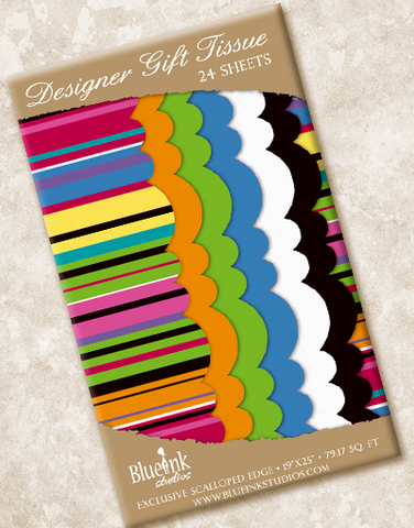 Fusion Stripe Scalloped Tissue Paper