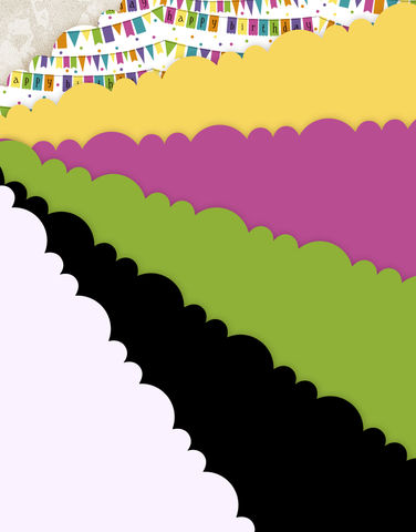 Banner Birthday Scalloped Tissue Paper