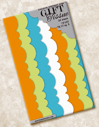 Maison Colors Scalloped Tissue Paper