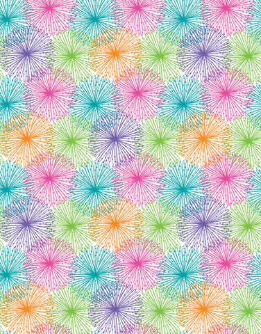 Colorful Starbursts Scalloped Tissue Paper
