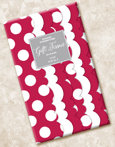 Glam Dots Scalloped Tissue Paper