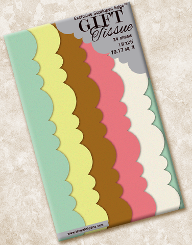 Color Chic Scalloped Tissue Paper