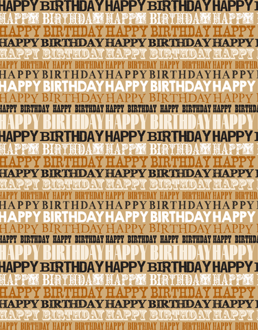 Birthday Font List Scalloped Tissue Paper