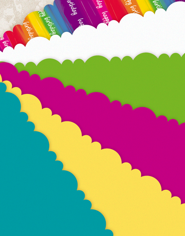 Rainbow Birthday Scalloped Tissue Paper