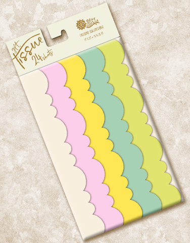 Sweetened Hues Scalloped Tissue Paper