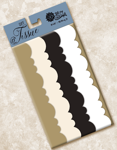 Sophisticate Scalloped Tissue Paper
