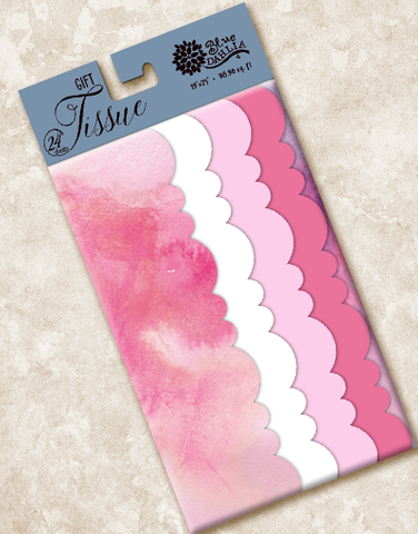 Pink Fluff Scalloped Tissue Paper