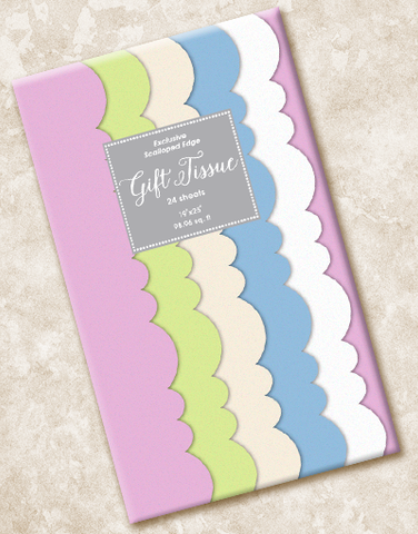 Wedding Mints Scalloped Tissue Paper