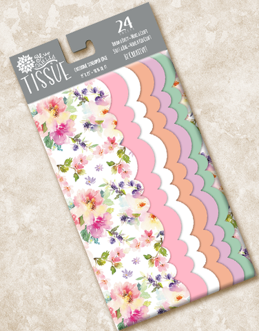 Floral Mist Scalloped Tissue Paper