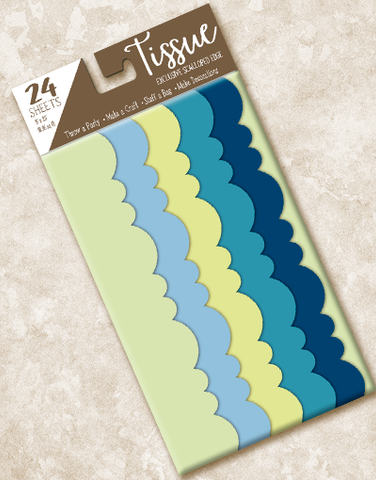Fresh Breeze Scalloped Tissue Paper