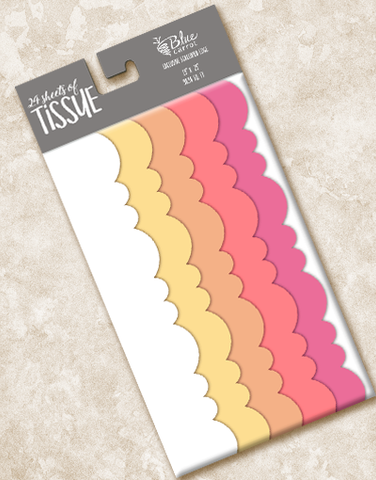 Sunshine Days Scalloped Tissue Paper