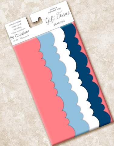 Cape Code Scalloped Tissue Paper