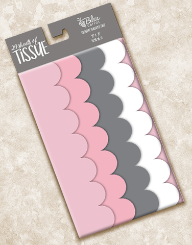 Horizon Scalloped Tissue Paper