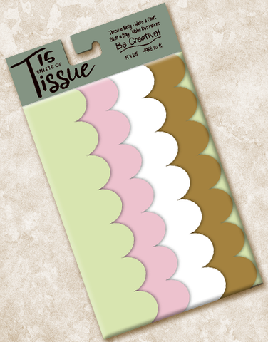 Lighthearted Scalloped Tissue Paper