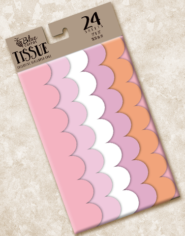 Cotton Candy Scalloped Tissue Paper
