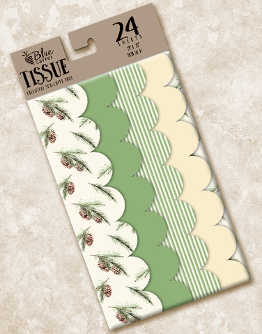 Natural Pine Scalloped Tissue Paper