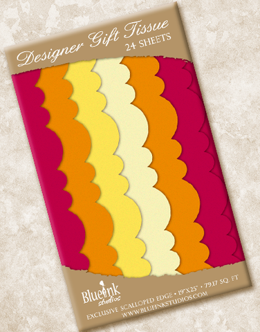 Sunset Scalloped Tissue Paper
