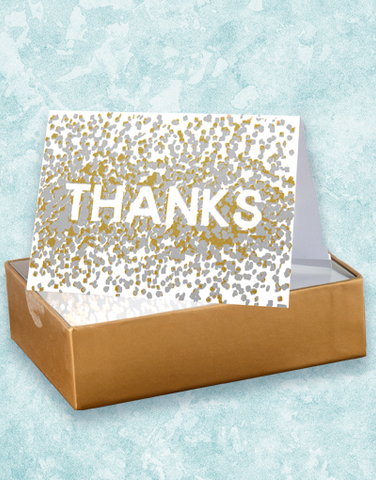 Confetti Thanks Thank You Note Cards