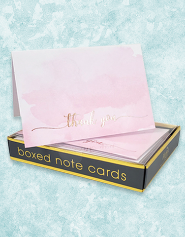 Pink Blush Thanks Note Cards