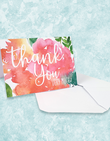 Floral Pop Note Cards