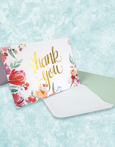 Fragrant Flowers Note Cards