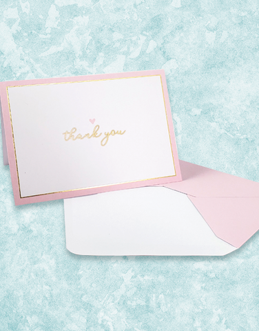 Blushing Heart Note Cards