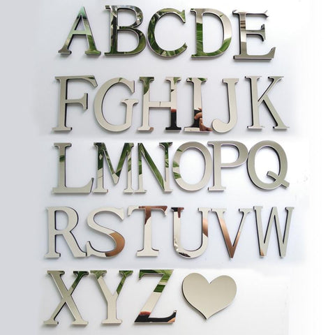Decorative 3D Letters