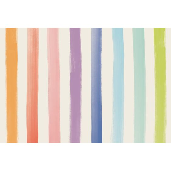 Sorbet Painted Stripe Paper Placemats