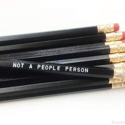 Not a People Person Pencils