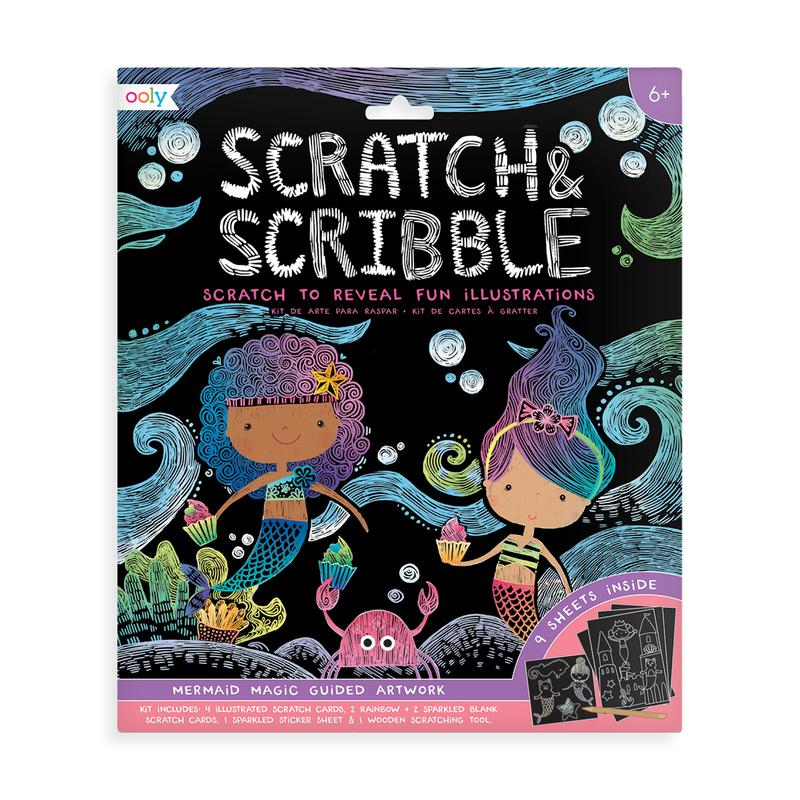 Mermaid Magic Scratch & Scribble Scratch Art Kit