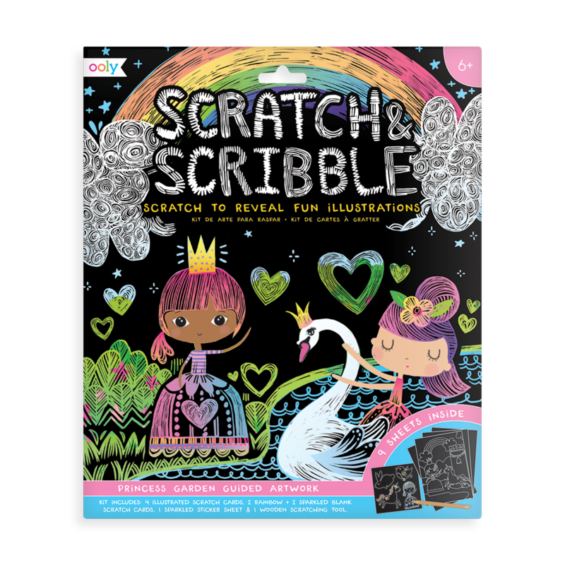 Princess Garden Scratch & Scribble Scratch Art Kit