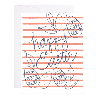 Easter Stripes Greeting Card