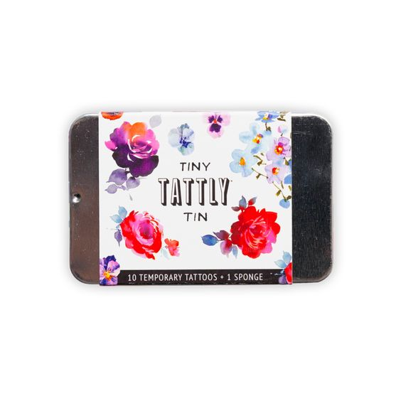 Floral Tiny Tattly Tin of Temporary Tattoos