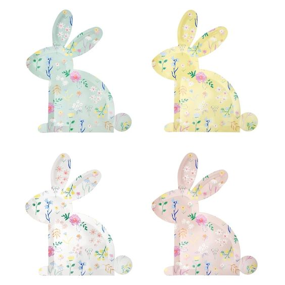 Wildflower Bunny Plates