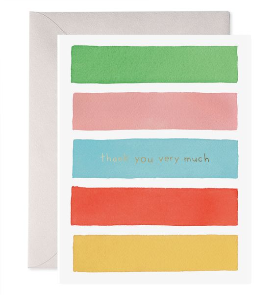 Color Bars Thank You Greeting Card