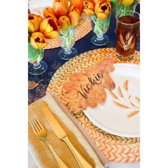 Die-Cut Braided Jute Placemat