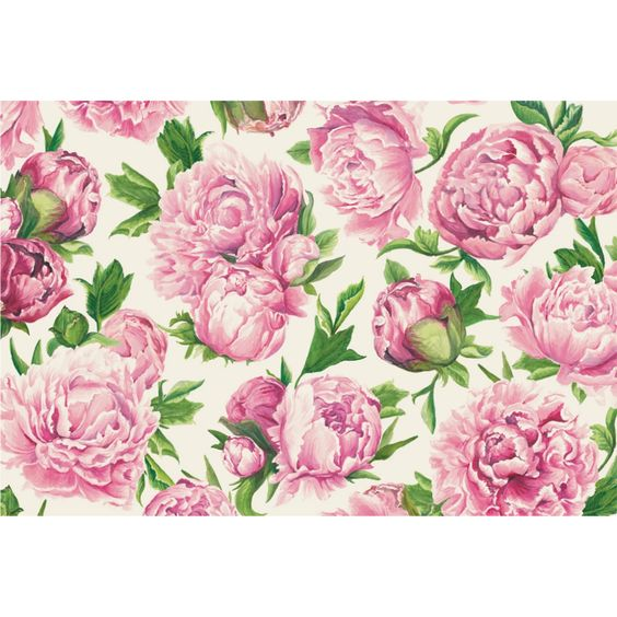 Peony in Bloom Paper Placemats