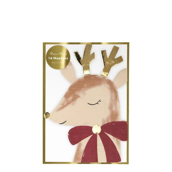Reindeer With Bow Napkins