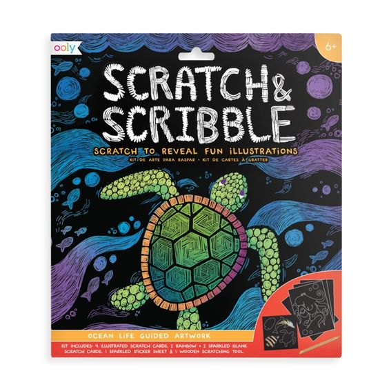 Ocean Life Scratch & Scribble Art Kit