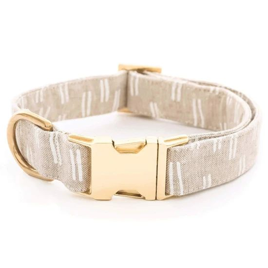 Flax Lines Dog Collar - Large