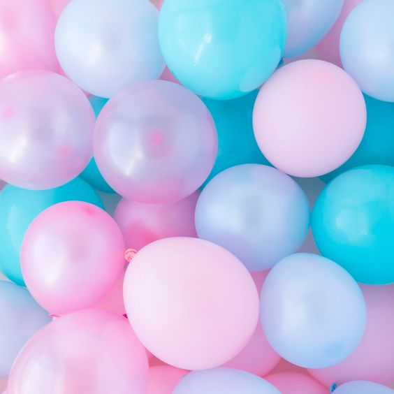Cotton Candy Mini Balloons