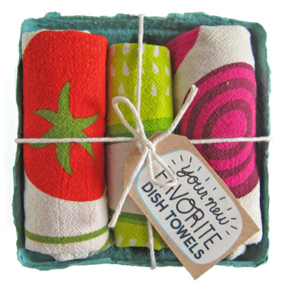 Farmers Market Dish Towels - Set of 3
