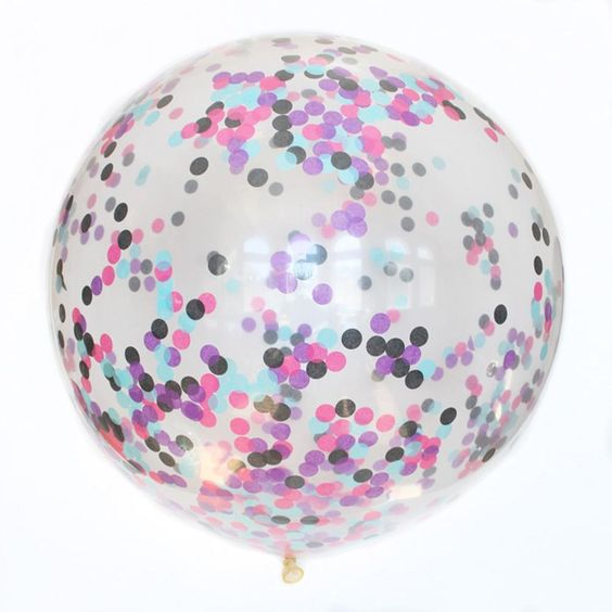Jumbo Galaxy Confetti Balloon