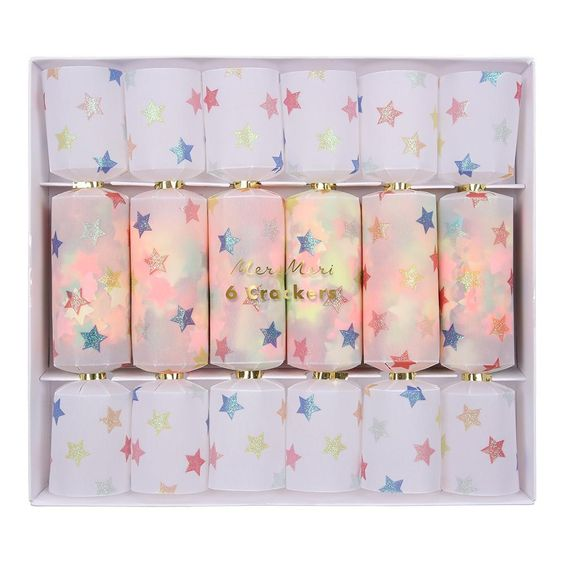 Multicolor Star Confetti Small Crackers