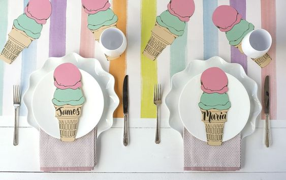 Ice Cream Table Accent