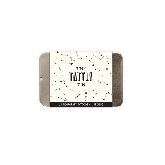 Constellation Tiny Tattly Tin of Temporary Tattoos