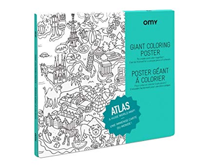 Giant Coloring Poster - Atlas