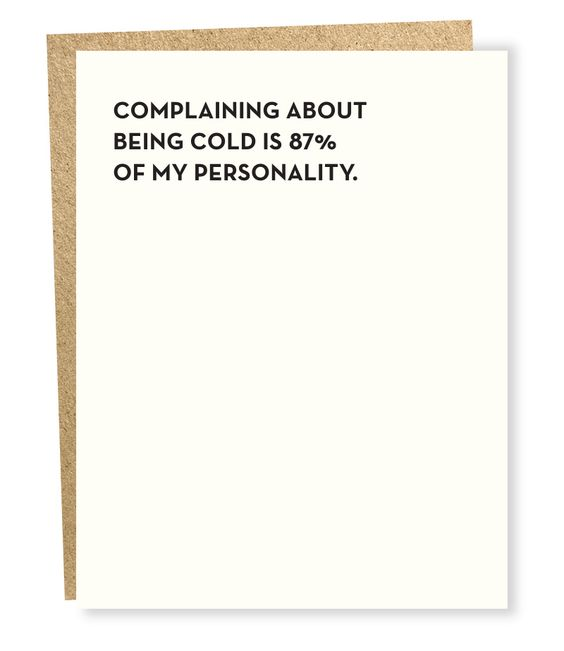 Being Cold Card