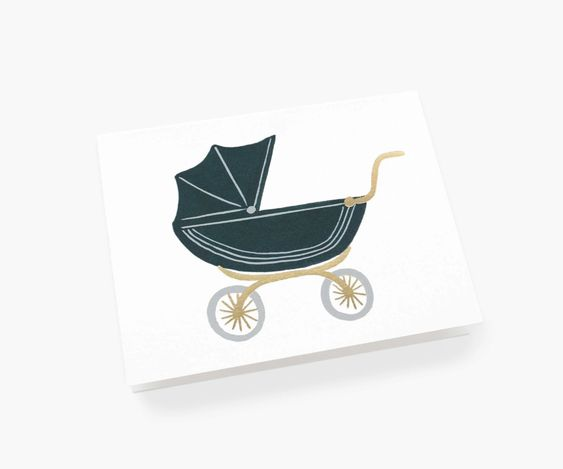 Baby Pram Greeting Card